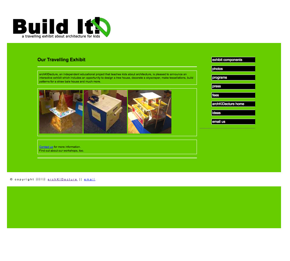 Buildit exhibit screenshot