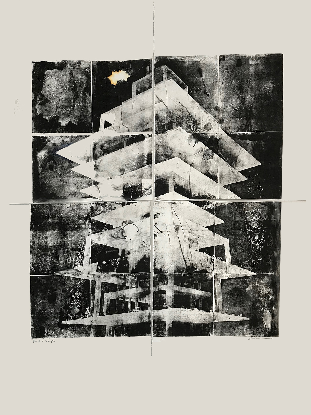 Deep and Simple Lithograph by Julie Cowan
