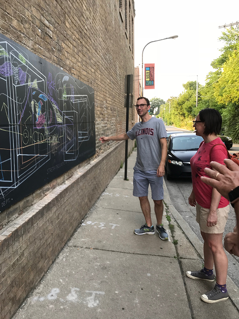 solid print pop-up mural