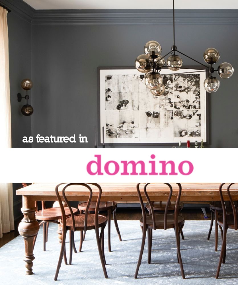 Julie Cowan artwork featured in Domino Magazine
