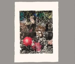 Roman Tile Floral print by Julie Cowan