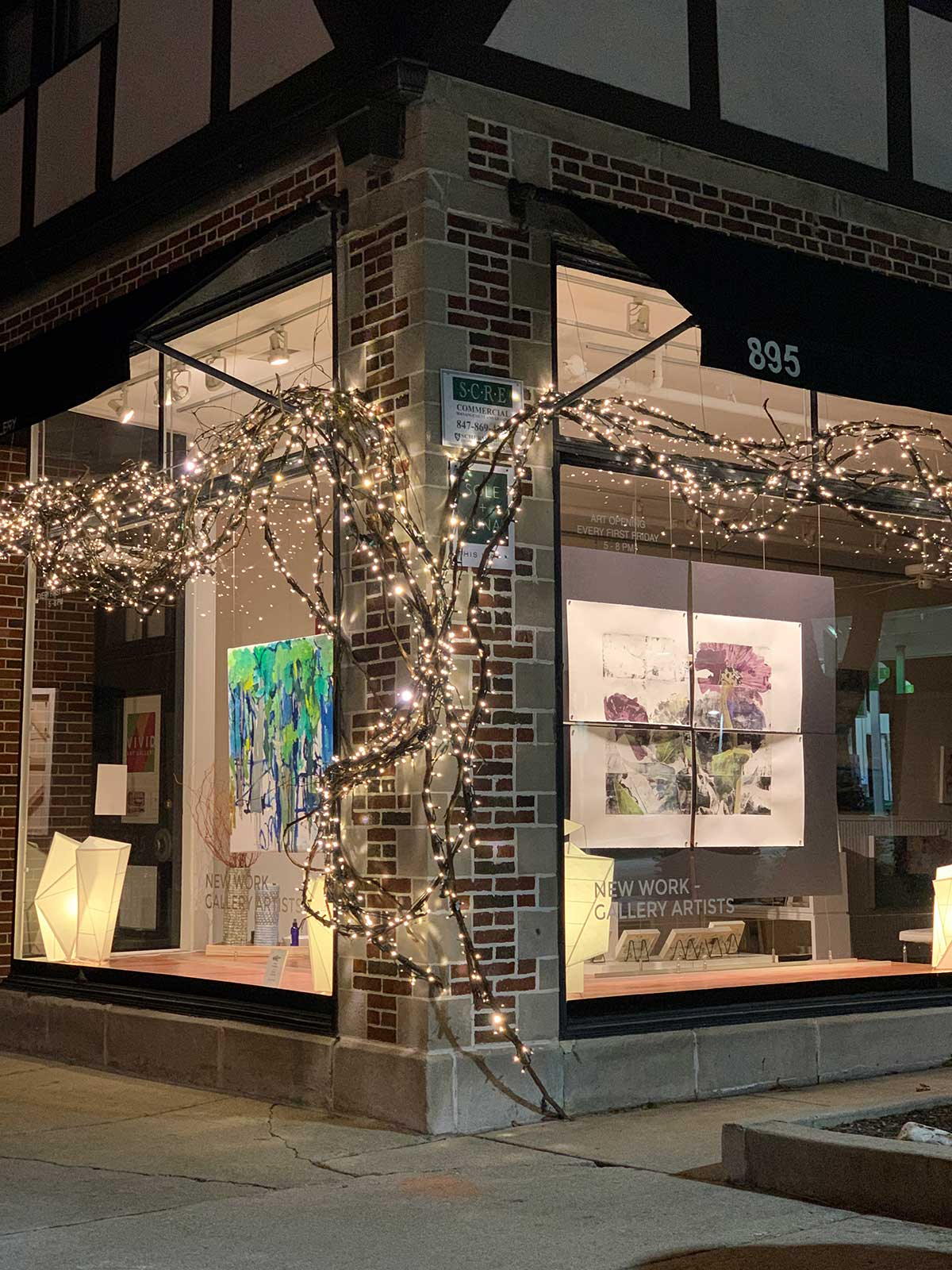 Vivid Gallery Window with julie cowan art in January 2021